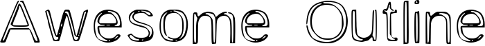 Awesome Outline Font