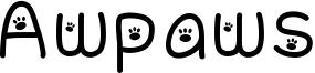 Awpaws Font