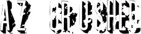 AZ Crushed Font
