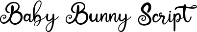 Baby Bunny Script Font