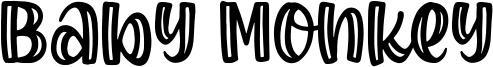 Baby Monkey Font