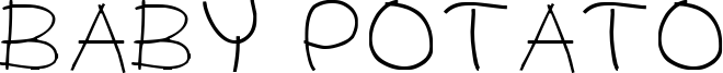 Baby Potato Font