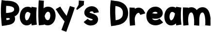 Baby's Dream Font