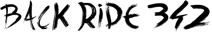 Back Ride 342 Font