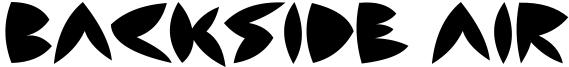 Backside Air Font