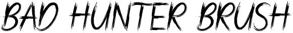 Bad Hunter Brush Font