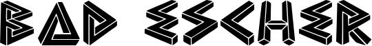 Bad Escher Font