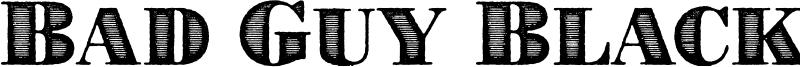 Bad Guy Black Font