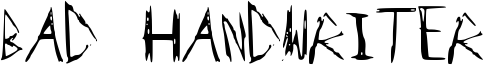 Bad Handwriter Font