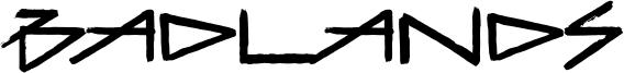 Badlands Font