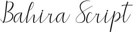 Bahira Script Font