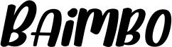 Baimbo Font