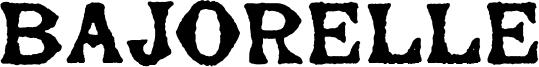 Bajorelle Font