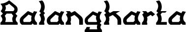 Balangkarta Font