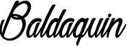 Baldaquin Font
