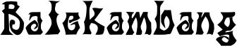 Balekambang Font