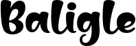 Baligle Font