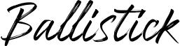 Ballistick Font