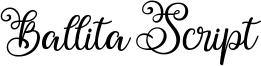 Ballita Script Font