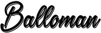 Balloman Font