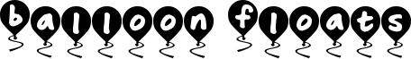 Balloon Floats Font