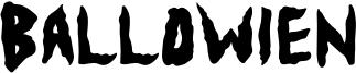 Ballowien Font