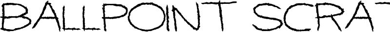 Ballpoint Scratch Font