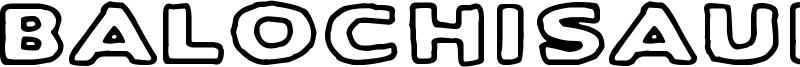 Balochisaurus Font