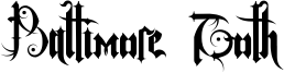 Baltimore Goth Font