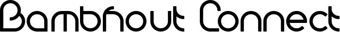 Bambhout Connect Font