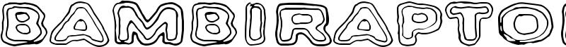 Bambiraptor Font