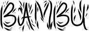 Bambu Font