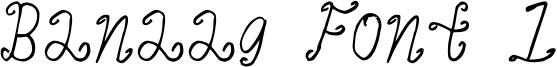 Banaag Font 1 Font