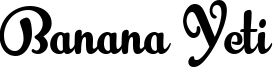 Banana Yeti Font