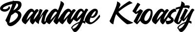 Bandage Kroasty Font