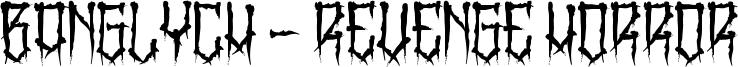 BangLYCH - Revenge Horror Font