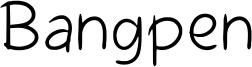 Bangpen Font
