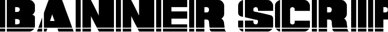 Banner Script Font