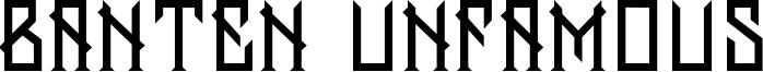 Banten Unfamous Font