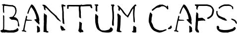 Bantum Caps Font