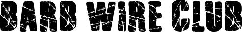 Barb Wire Club Font
