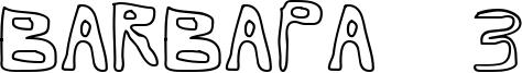 Barbapa 3 Font