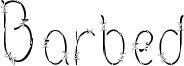 Barbed Font