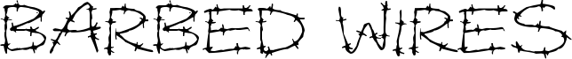 Barbed Wires Font