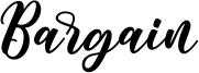 Bargain Font