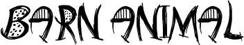 Barn Animal Font