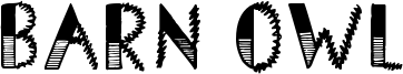 Barn Owl Font