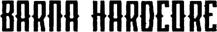 Barna Hardcore Font