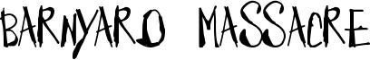 Barnyard Massacre Font
