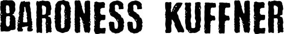 Baroness Kuffner Font
